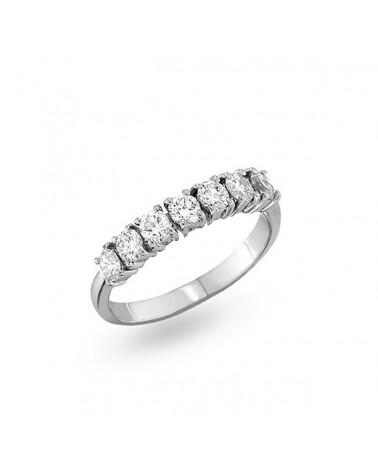 Anello oro bianco con diamanti 0.70 G-SI