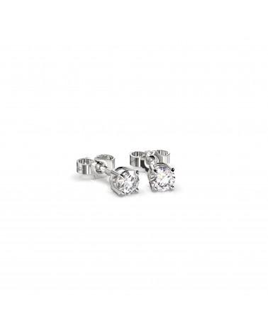Orecchini in oro bianco con diamanti 0,30 H SI