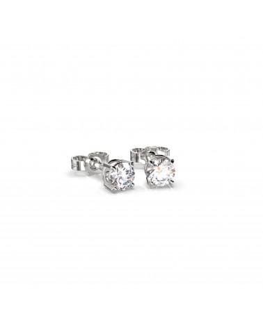 Orecchini in oro bianco con diamanti 0,40 H SI
