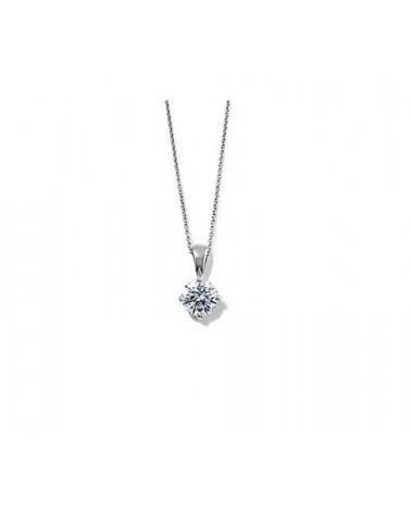 Pendente in oro bianco con diamante 0,60 G SI