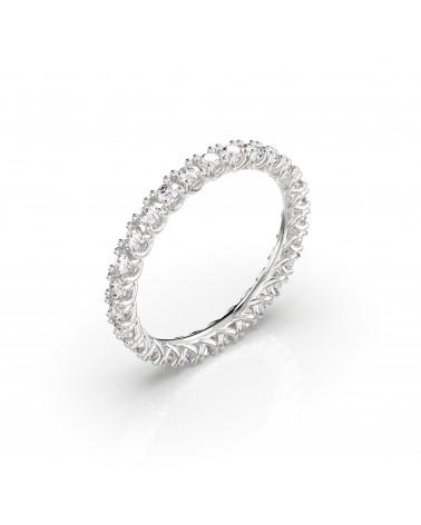 Anello in oro bianco con diamanti 1,15 H SI