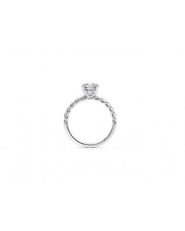 Anello in oro bianco con diamante solitario 0,70 G  SI