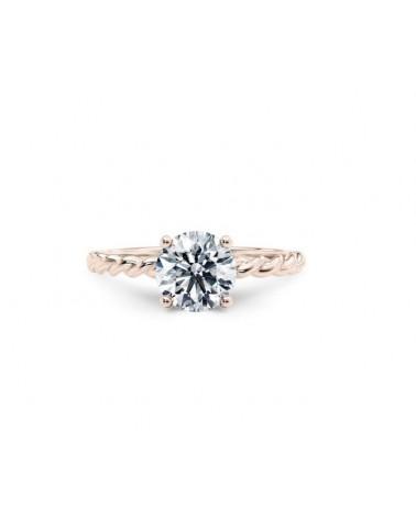 Anello in oro rosa con diamante solitario  0,80 G  SI