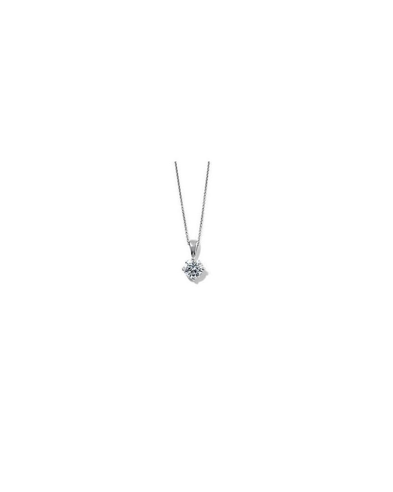 Pendente in oro bianco con diamante 0,30 G SI