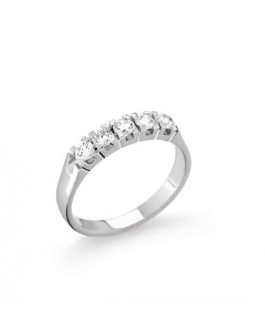 Anello oro bianco con diamanti 0.90 G-SI